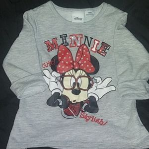 24 month baby girl Minnie mouse top